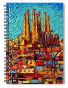 Barcelona Abstract Cityscape - Sagrada Familia Spiral Notebook