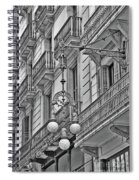 Barcelona Balconies In Black And White  Spiral Notebook