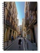 Barcelona Street Scene Spiral Notebook