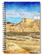 Bardenas Desert Panorama 3 - Vintage Version Spiral Notebook