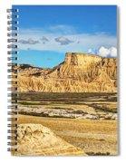 Bardenas Desert Panorama 3 Spiral Notebook