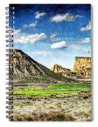 Bardenas Desert Panorama 4 - Vintage Version Spiral Notebook