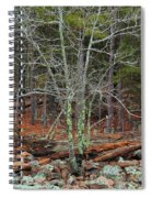 Bare Tree And Boulders In Mark Twain Forest Spiral Notebook
