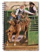 Bareback Riding At The Wickenburg Senior Pro Rodeo Spiral Notebook