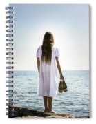 Barefoot At The Sea Spiral Notebook