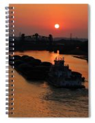 Barge On The Ohio. Spiral Notebook