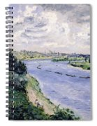 Barges On The Seine Spiral Notebook