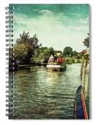 10946 Cruising On The Grand Union Canal Spiral Notebook