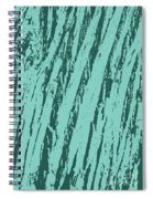 Bark Texture Turquoise Spiral Notebook