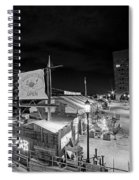 Barking Crab Boston Ma Black And White Spiral Notebook