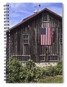Barn And American Flag Spiral Notebook