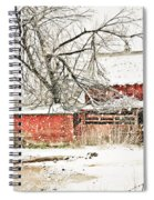 Barn And Pond Spiral Notebook