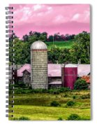 Barn And Silo With Infrared Touch Of Pink Effect Spiral Notebook