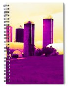 Barn And Silos Amertrine Effect Spiral Notebook