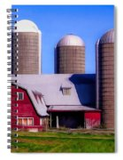 Barn And Silos Hawaiian Chapel Effect Spiral Notebook