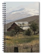 Barn And Snow Spiral Notebook
