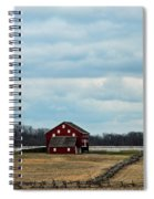 Barn And Split Rail Fence Spiral Notebook