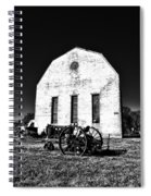 Barn And Tractor In Black And White Spiral Notebook