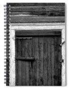 Barn Door And Windows Bw Spiral Notebook