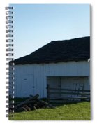 Barn Gettysburg Battle Field Spiral Notebook