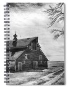 Barn In Black And White Spiral Notebook