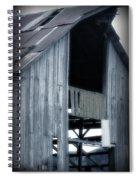 Barn In Blue Spiral Notebook