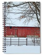 Barn In The Winter Spiral Notebook