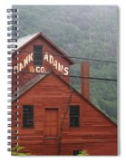 Barn In Vermont Along Amtrack Spiral Notebook