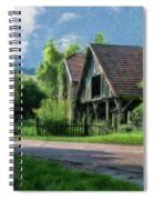 Barn Near Lac De Panthier - P4a160017 Spiral Notebook