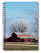 Barn On Frosty Morn Spiral Notebook