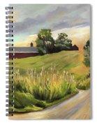 Barn On The Ridge In West Newbury Vermont Spiral Notebook