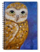 Barn Owl- Impressionism- Owl By Night Spiral Notebook