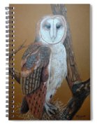 Barn Owl On Tree Spiral Notebook