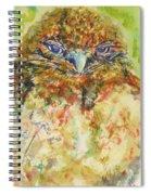 Barn Owl Thinking Spiral Notebook