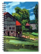 Barn Roofs Spiral Notebook