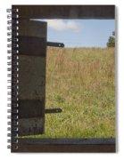 Barn Window View Spiral Notebook