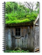 Barn With Green Roof Spiral Notebook