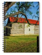 Barn With Red Metal Roof Spiral Notebook