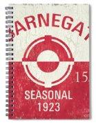 Barnegat Beach Badge Spiral Notebook