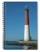 Barnegat Lighthouse And Inlet New Jersey Spiral Notebook