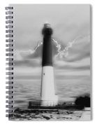Barnegat Lighthouse In Black And White Spiral Notebook