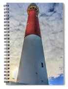 Barnegat Lighthouse In The Clouds Spiral Notebook