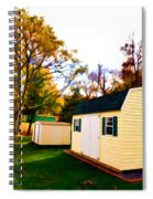Barns In Autumn Spiral Notebook