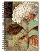 Baroque Hydrangea Patchwork Spiral Notebook