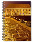 Baroque Town Of Varazdin Square At Evening Spiral Notebook