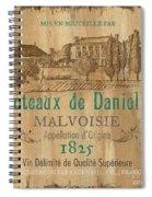 Barrel Wine Label 2 Spiral Notebook