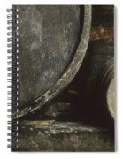 Barrels Of Wine In A Wine Cellar. France Spiral Notebook