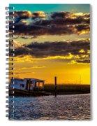 Barrier Island Sunset Spiral Notebook