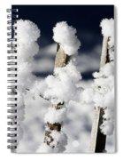 Barriere En Bois Recouverte De Neige Les Contamines Montjoie Haute Savoie Spiral Notebook