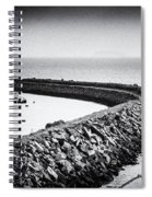Barry Island Breakwater Film Noir Spiral Notebook
